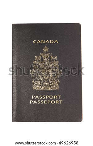 Canadian passport isolated on white background. - stock photo