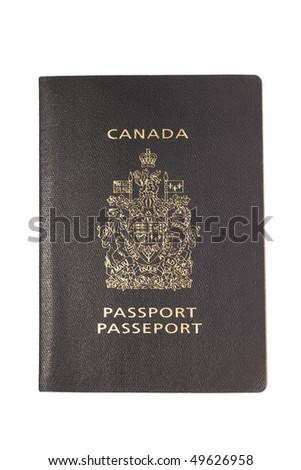 Canadian passport isolated on white background. - stock photo