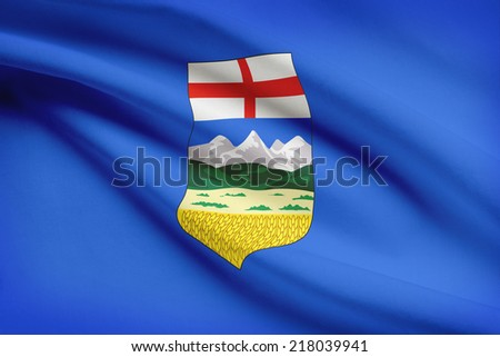 Canadian provinces flags series - Alberta - stock photo