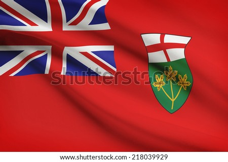 Canadian provinces flags series - Ontario - stock photo