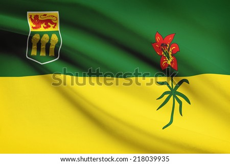 Canadian provinces flags series - Saskatchewan - stock photo