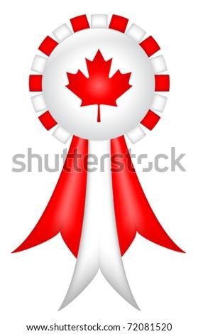 Canadian Ribbon - stock photo