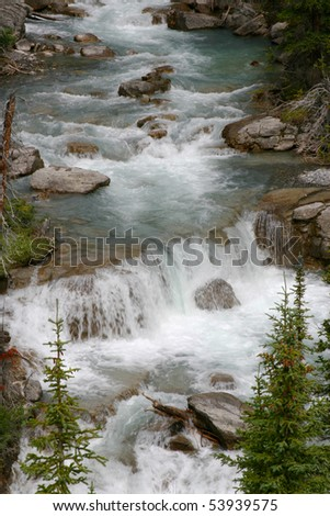 Canadian River and Water Fall - stock photo