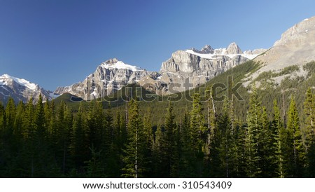 Canadian Rockies. Banff National Park - stock photo