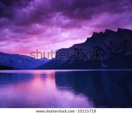 Canadian rocky Beautiful lake-74 - stock photo