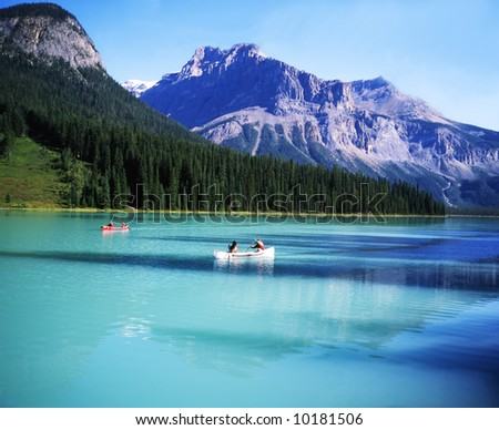 Canadian rocky Beautiful lake-79 - stock photo
