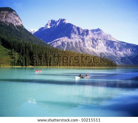 Canadian rocky Beautiful lake-80 - stock photo