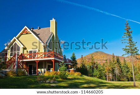 Canadian Summer House in Autumn - stock photo