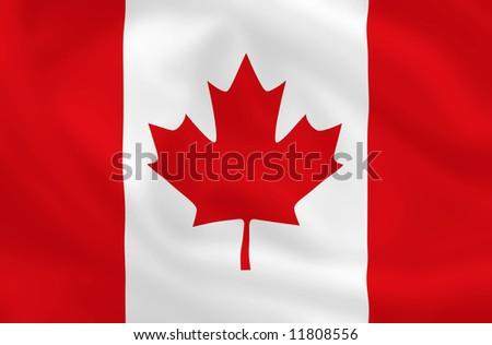 Canadian waving flag - stock photo