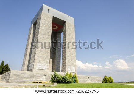 Canakkale Martyrs' Memorial, Turkey - stock photo