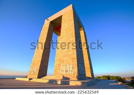 Canakkale Martyrs' Memorial, Turkey for battle of Gallipoli (HDR) - stock photo