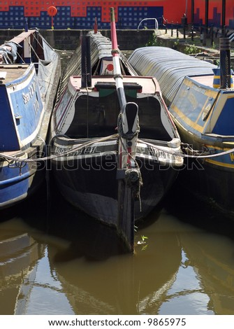 Canal Boats in a dock
