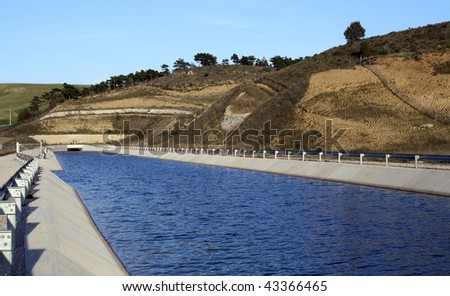 Canal for irrigation.