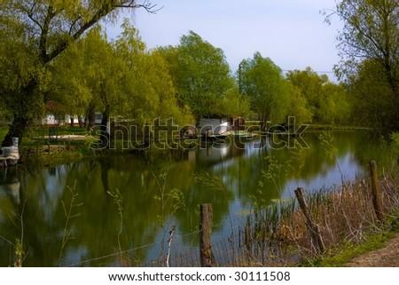 canal in Danube Delta - stock photo