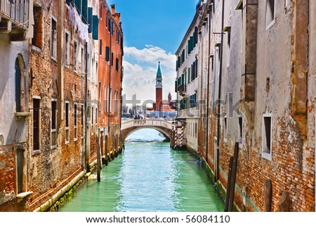Canal in Venice - stock photo