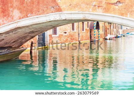 Canal in Venice, Italy. - stock photo