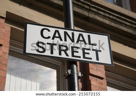 Canal Street Sign, Manchester, England, UK