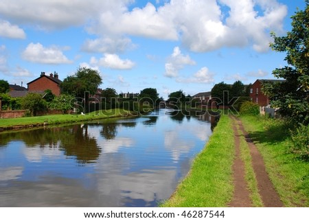 Canal towpath - stock photo