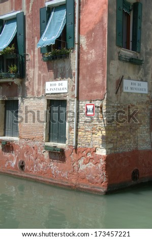 Canals and cityscape in Venice, Italy