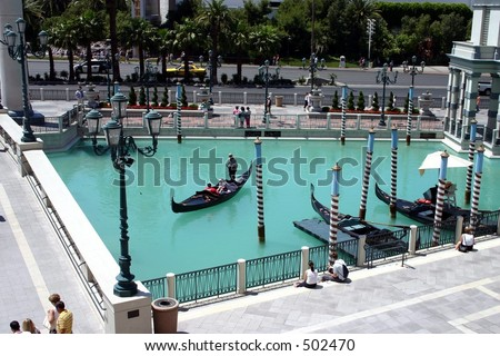 Canals at the Venetian Las Vegas - stock photo