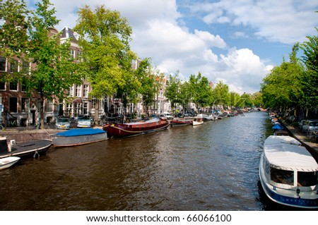 Canals of Amsterdam - stock photo