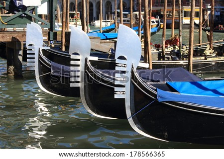 canals with gondolas venice