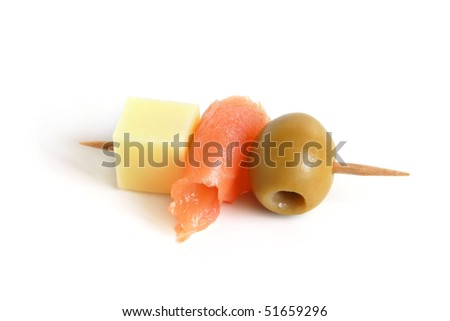 Canape on a white background - stock photo
