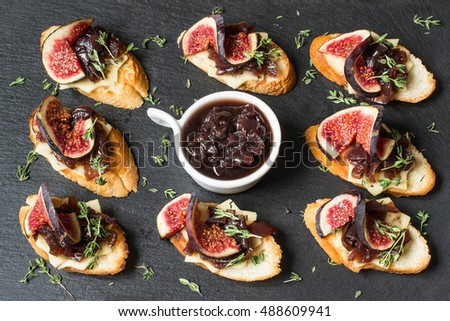 Crostini stock images royalty free images vectors for Canape aperitif