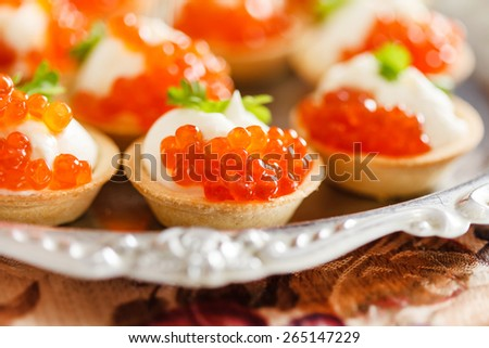 Christmas party food stock images royalty free images for Canape with caviar