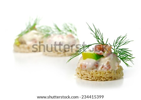 North sea fish stock photos images pictures shutterstock for Canape garnishes