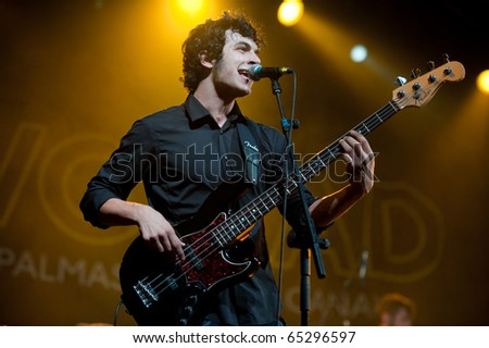 CANARY ISLANDS - NOVEMBER 11: Eduardo Cabrera from the band La Perra de Pavlov from Las Palmas performs onstage during Womad in Las Palmas November 11, 2010 in Canary Islands, Spain - stock photo