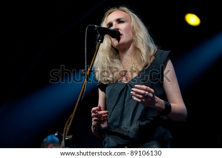 CANARY ISLANDS – NOVEMBER 12: Kiki Sauer from the band 17 Hippies, from Germany, performs onstage during Womad 2011 November 12, 2011 in Las Palmas, Canary islands, Spain