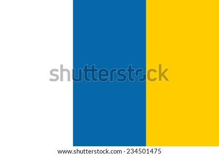 Canary Islands simple flag Spanish archipelago symbol - stock photo