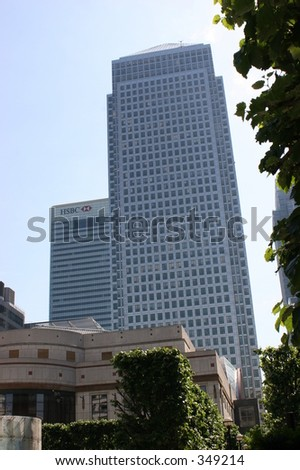 Canary Wharf, Docklands - stock photo