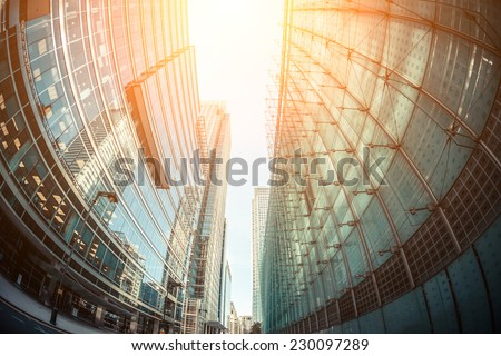 Canary Wharf, Financial District in London - stock photo