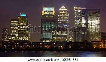 Canary Wharf in London - stock photo