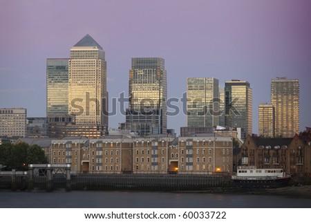 Canary Wharf in London, England. - stock photo