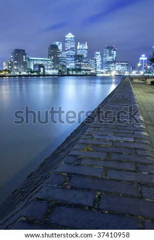 Canary Wharf in London, UK - stock photo