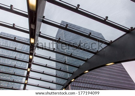 canary wharf london - stock photo