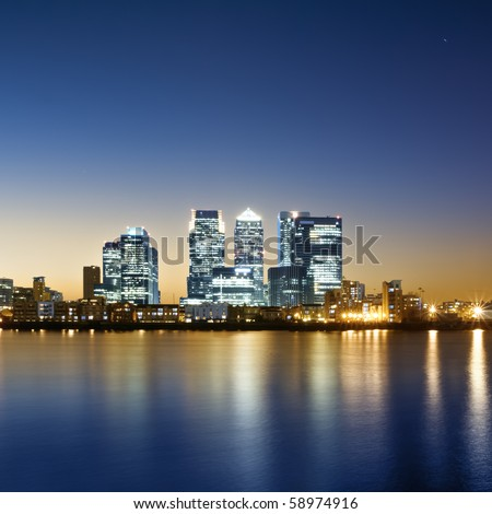 Canary Wharf, London. - stock photo
