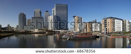 Canary Wharf, London Docklands - stock photo
