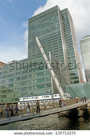 Canary Wharf -  London's traditional financial center.
