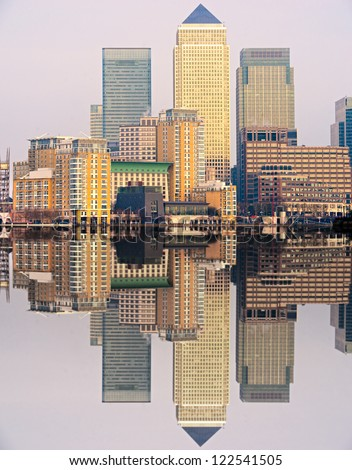 Canary Wharf, London, UK - stock photo