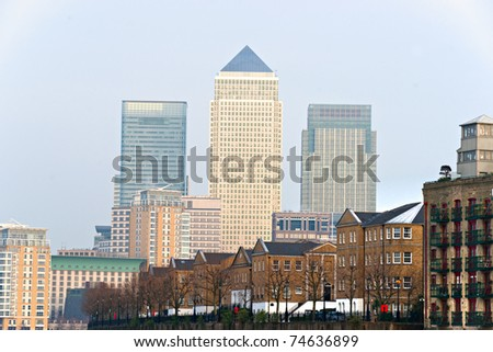 Canary Wharf, London, UK - stock photo