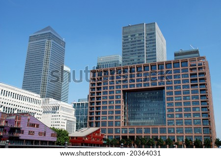 Canary wharf Londons business and finance centre