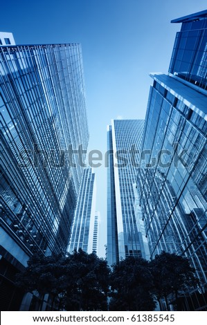Canary Wharf`s skyscrapers (London) - stock photo