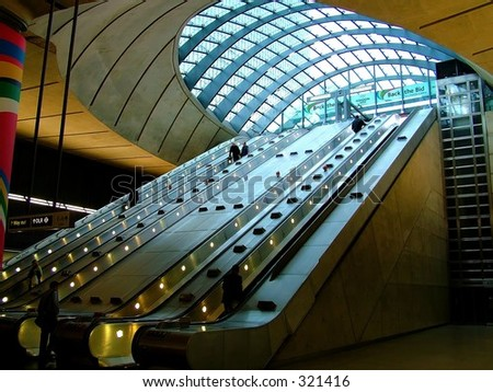Canary Wharf Tube station - stock photo
