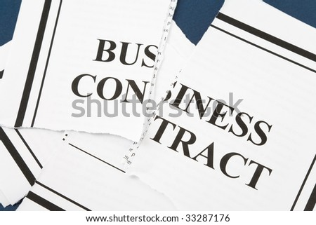 Cancel Business Contract, Torn paper