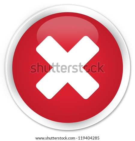 Cancel icon red button