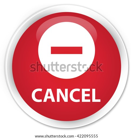 Cancel red glossy round button - stock photo